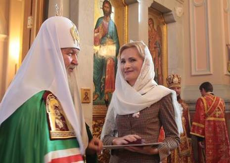 "Russian Orthodox Church gives a medal to Irina Yarovaya, the author of the new law, for ""strengthening moral and spiritual culture of Russia."""